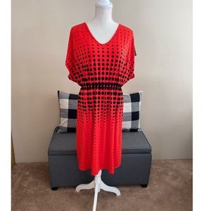 Lane Bryant Red and Black Dress Size 14/16